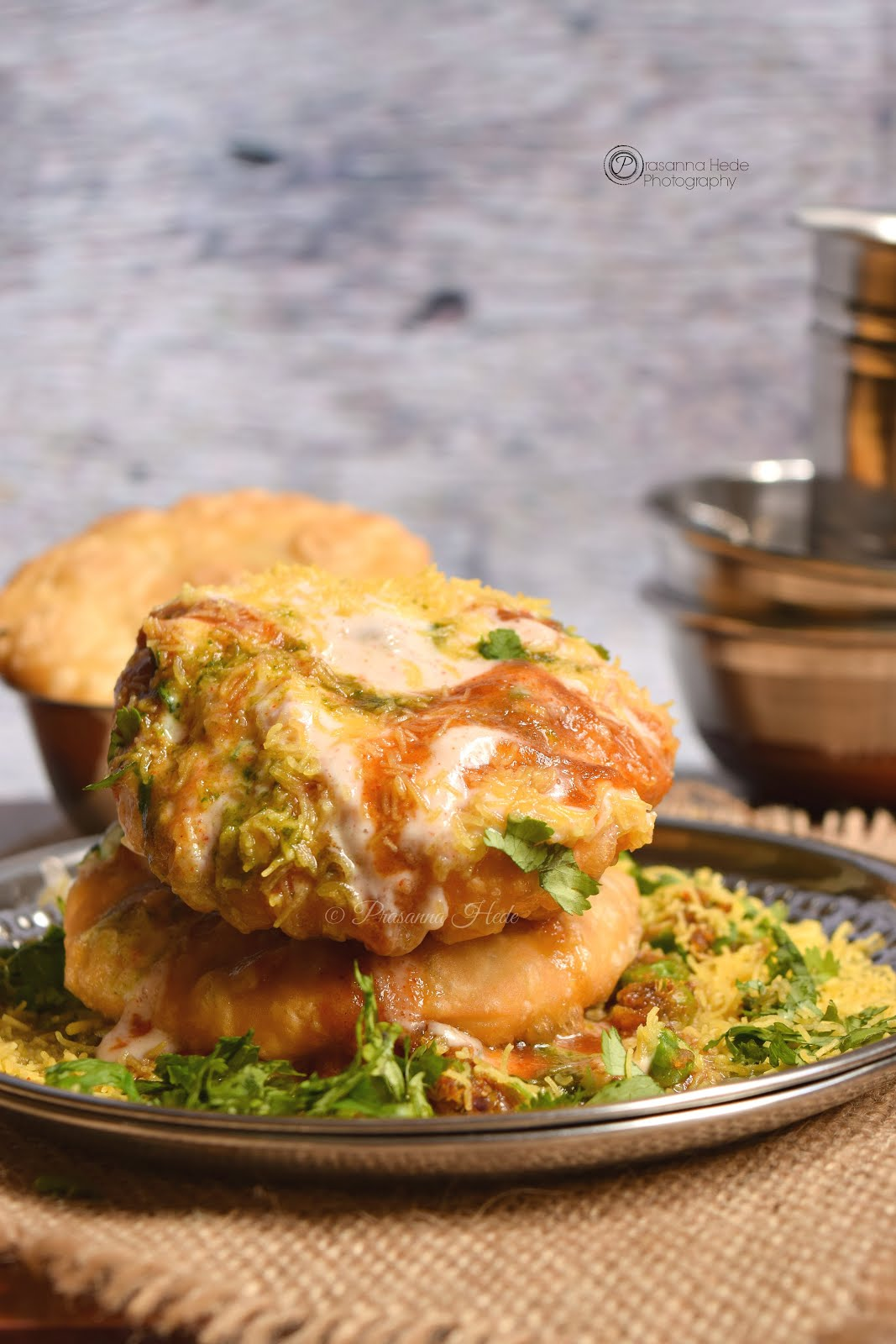 Chaat Street Food Dahi Matar Kachori Chaat Recipe