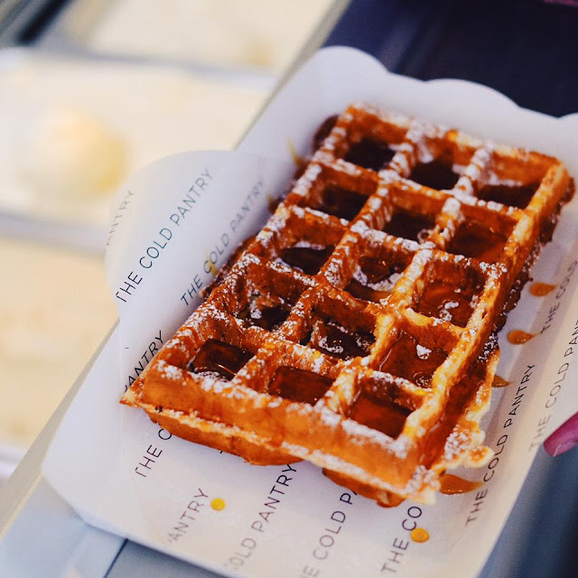 Classic Waffle with Sea Salt Caramel Ice Cream