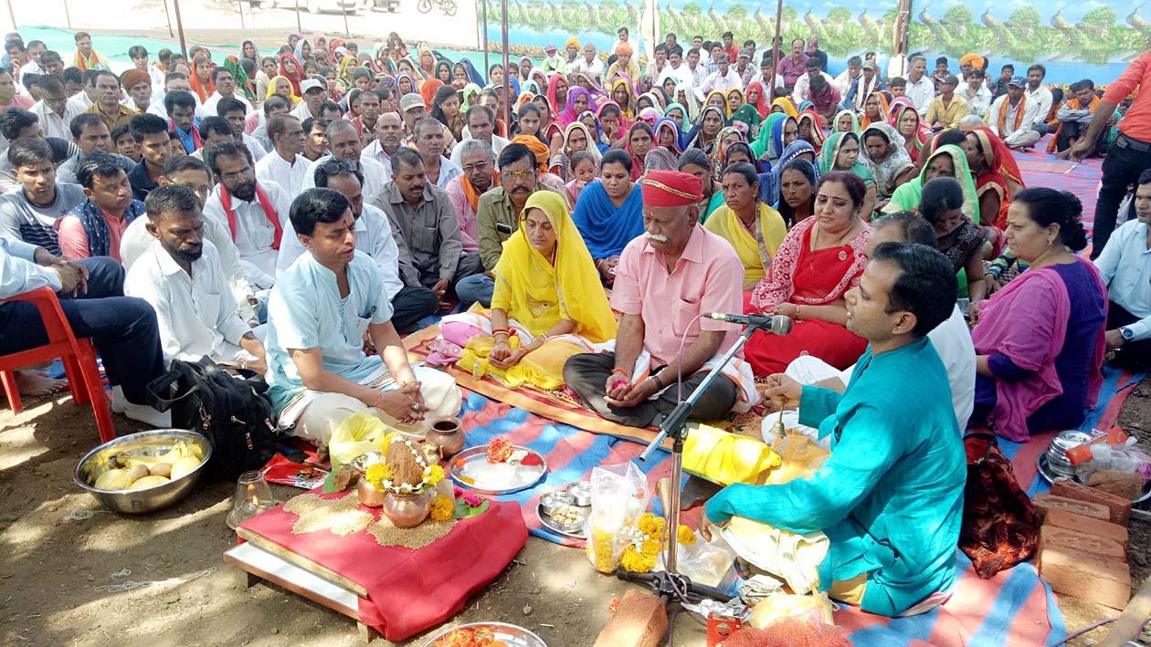 Shri-Ram-Saranm-building-work-started-umarkot-jhabua-राम नाम के जाप के साथ शुरू हुआ श्री राम शरणम् भवन निर्माण कार्य