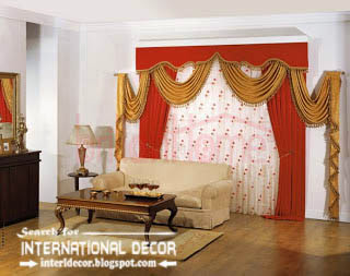 Luxury Living Room Curtain Styles Colors Orange Curtains