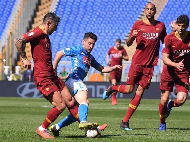 Hasil Liga Italia: Napoli Hajar Roma 4-1 di Olimpico
