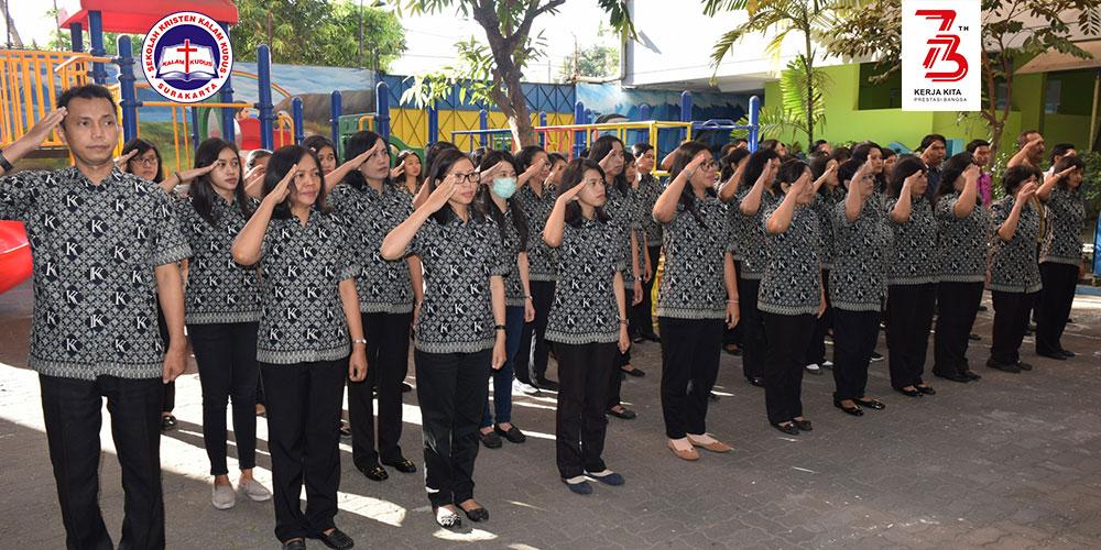 Peringati HUT Ke-73 RI, SKKK Surakarta Gelar Upacara Bendera