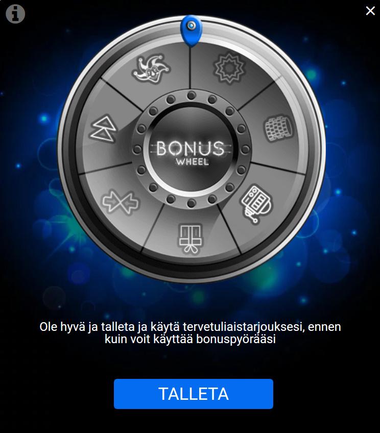 Spin Casino bonuspyörä