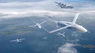 Ilustrasi  Drone Swarming