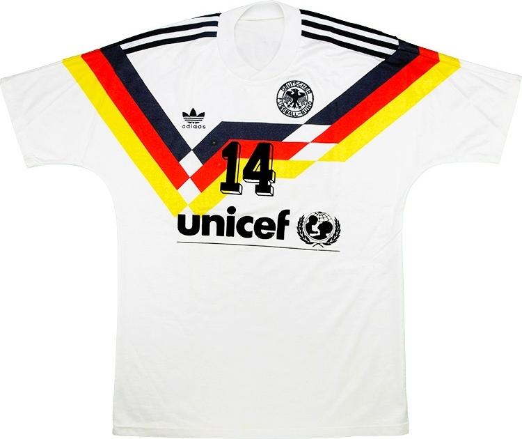 e286b6c4aa A camisa da Alemanha com o patrocínio da Unicef - Show de Camisas