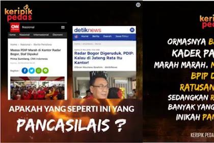 """Sindiran Pedas Netizen Untuk PDI P dan GMBI, """"Ormasnya Baku Hantam, Kader Partainya Main Pukul, BIPnya Digaji 100 Juta"""" Inikah Pancasila?"""
