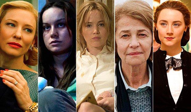 candidatas a mejor actriz en los Oscar 2016, por orden de mención