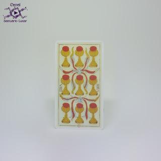 Tarot de Marseille (Heron) - 9 of Cups