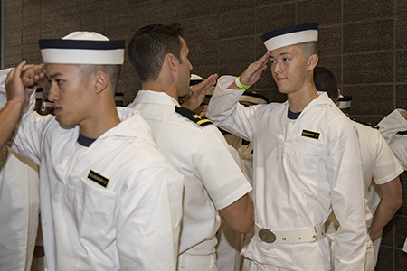 The Trident: USNA Inducts Class of 2021