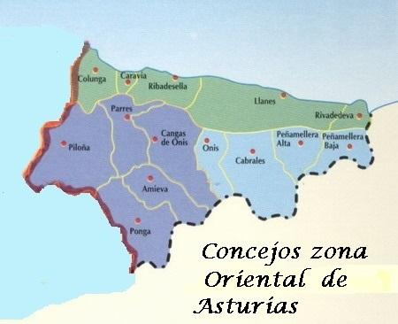 Asturias Asturias 78 Concejos 78 Capitales De Concejo