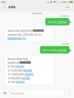 cara cek saldo sms banking bri