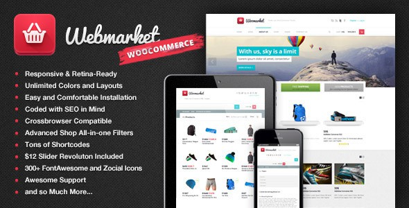WordPress Ecommerce Themes - Webmarket