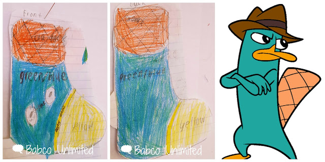 BabcoUnlimited.blogspot.com - Perry the Platypus Christmas Stocking