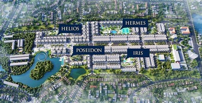 4 tiểu khu đẳng cấp sang trọng tại dự án Crown Villas Thái Nguyên