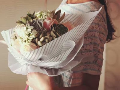 Kertas Buket Bunga / Flower Bouquet Wrapping Paper (Seri LL-021 / LL Twill)