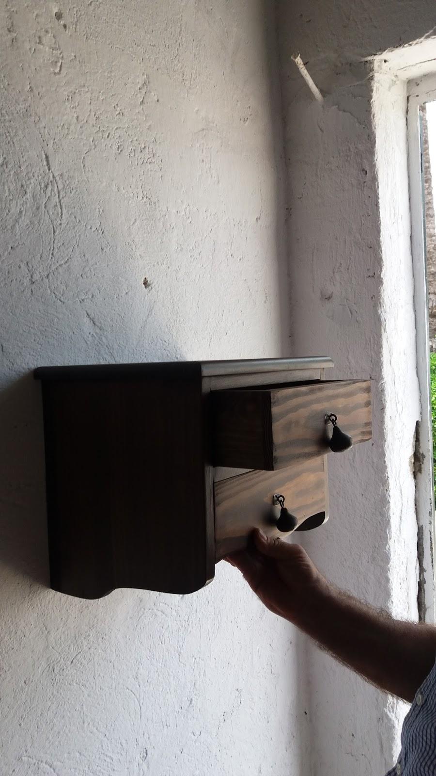 Artesan a r stica en madera mesita de madera - Mesitas de noche de 30 cm de ancho ...