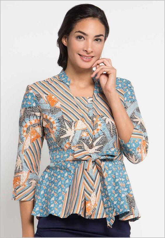 Koleksi 45 Model Baju Batik Atasan Wanita Terbaru 2018 Hijrahber