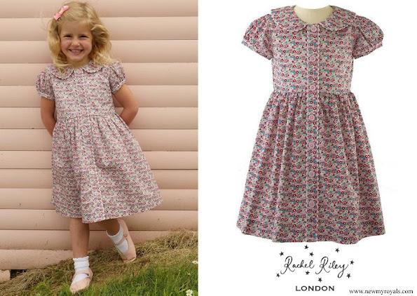 Princess Charlotte Rachel Riley Ditsy floral button front dress