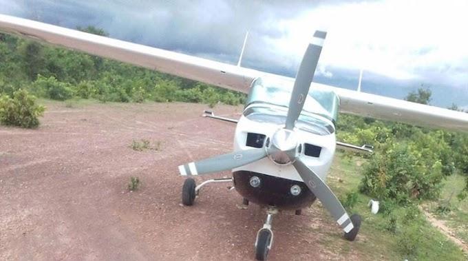 AUDÁCIA - Avião com droga faz pouso forçado no interior do Piauí; piloto é preso