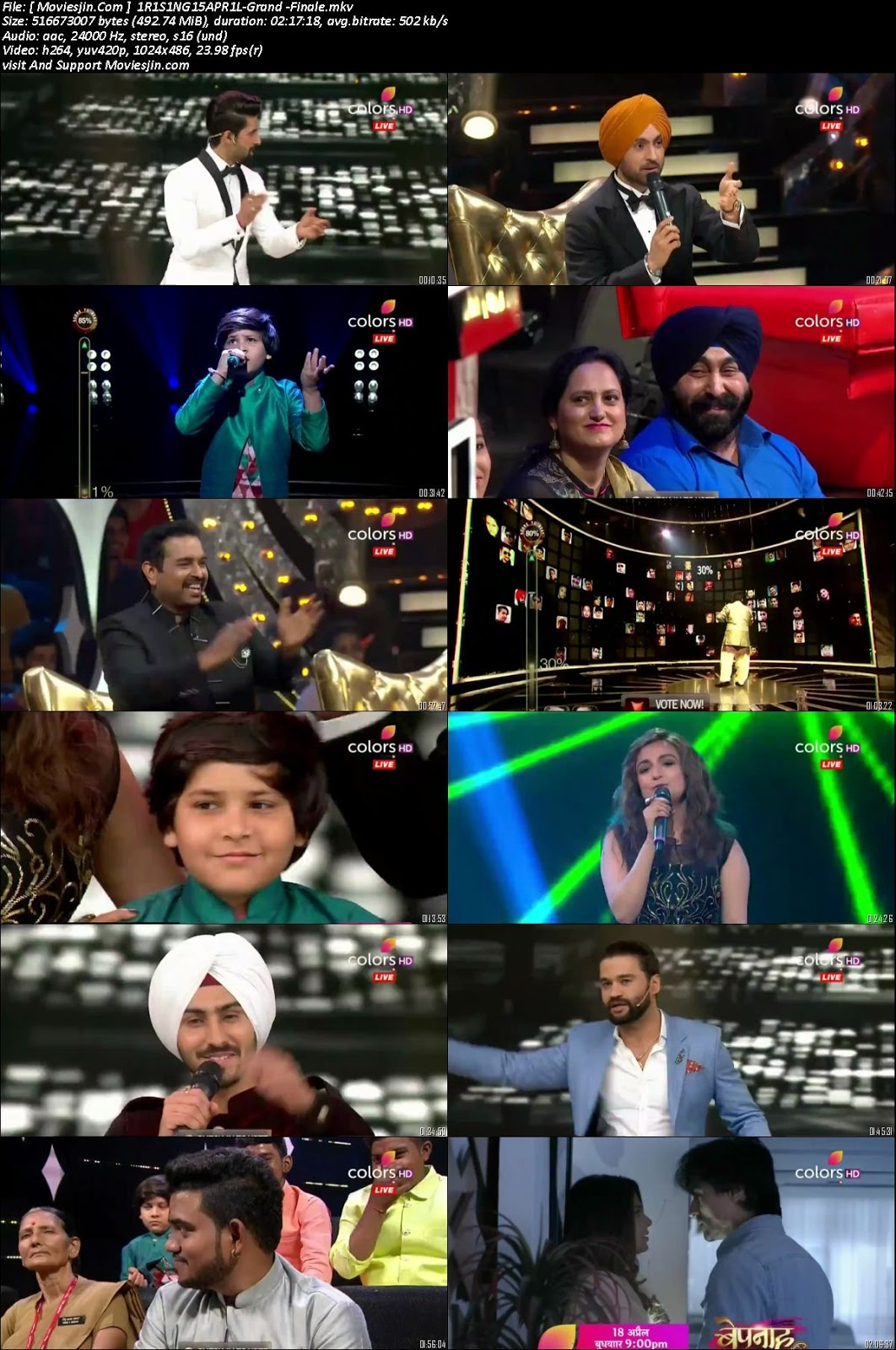 Watch online Rising Star S02 Grand Finale 15 April 2018 480p TVRip 500MB downloadhub