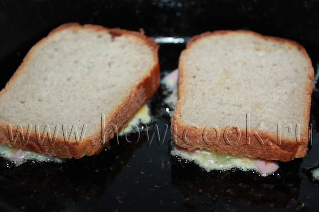 рецепт горячих бутербродов с колбасой и огурцами на завтрак с пошаговыми фото