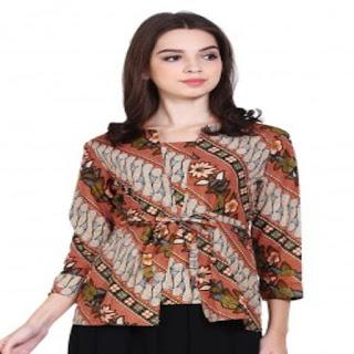 desain baju gaun batik modern