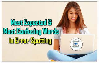 Important Grammar Tips - Most Expected and Most Confusing Words in Error Spotting