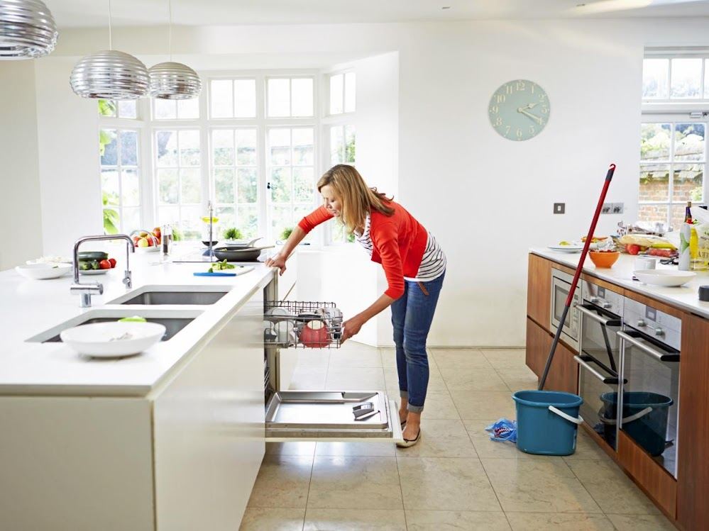 woman-loading-dishwasher