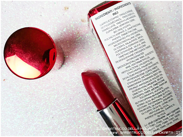 rossetto red velvet inci libre professional makeup