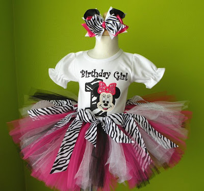 Flash Giveaway Black Pink Zebra Minnie Mouse Birthday