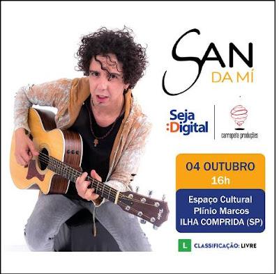 Show de Sandamí , recreação e informações na caravana na TV Digital nesta quinta 04/10, no Espaço Cultural