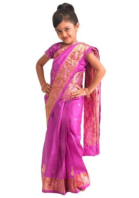 baju sari india untuk anak