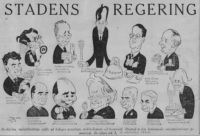 Stockholms politiska ledning 2 oktober 1940