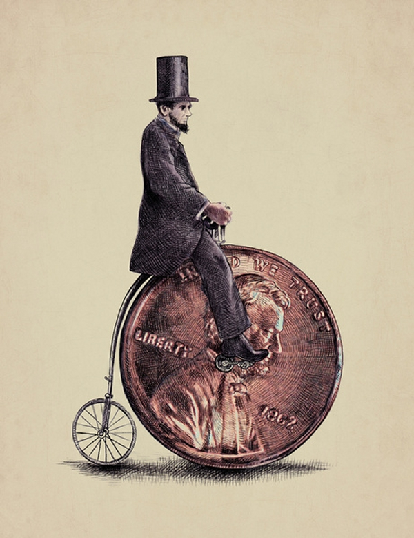 08-Penny-Farthing-Eric-Fan-Illustration-of-Fantasy-Characters-in-Surreal-Worlds-www-designstack-co