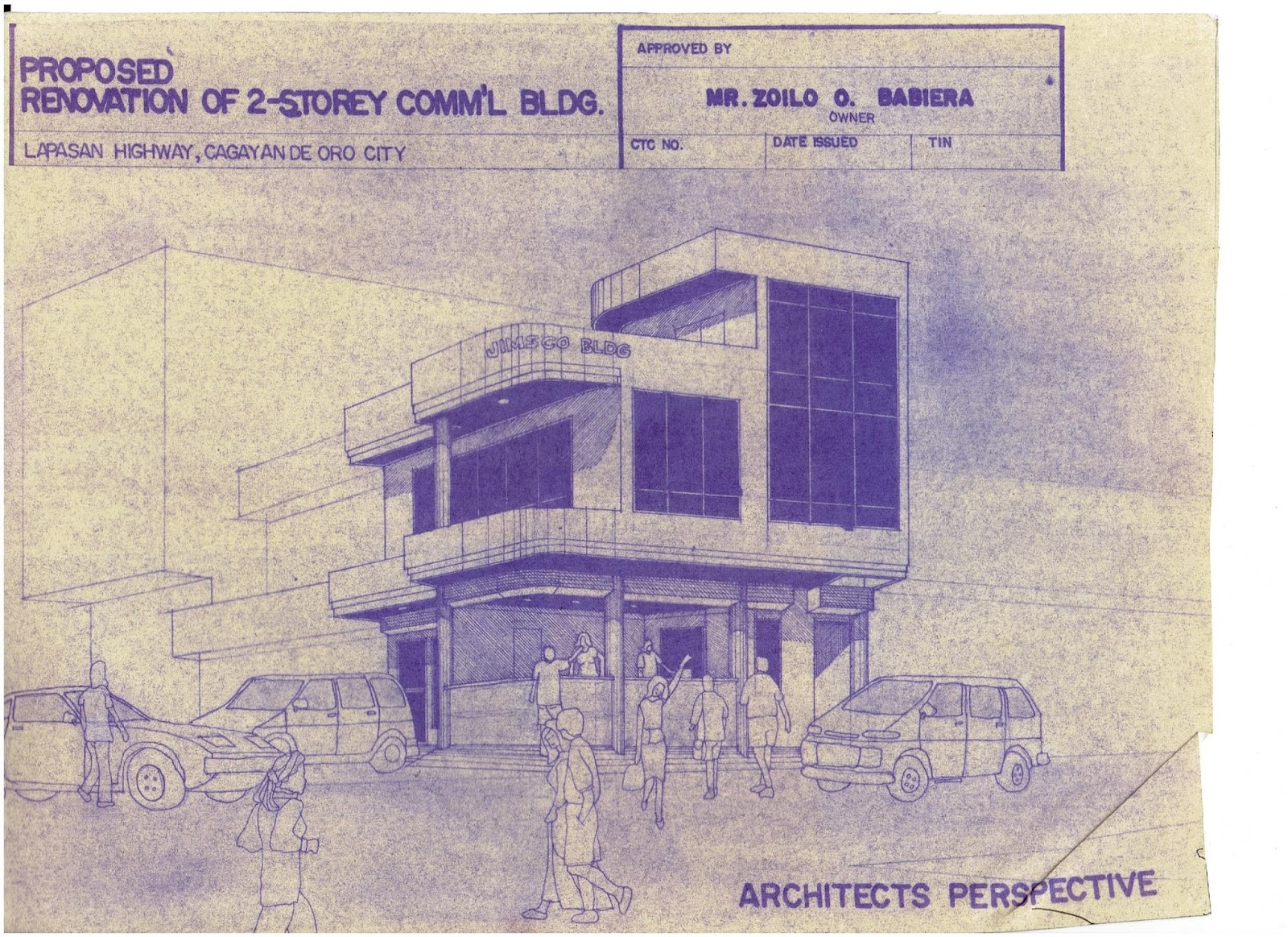Bnb architects 2 storey commercial building using pen and ink in standard tracing paper this drawing was already a product of a blueprint to be used in acquiring building permit malvernweather Gallery