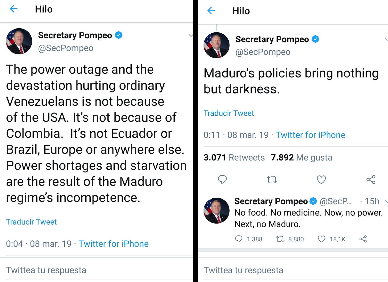 El apagón venezolano, un verdadero crimen social del chavismo - Por Razon y Revolucion Pompeo290392