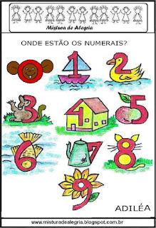 Desenho dos numerais
