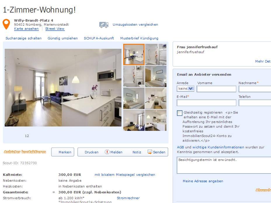 Wohnung N Ef Bf Bdrnberg Altstadt