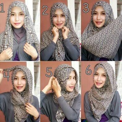 Tutorial Hijab Monochrome alias Monokrom yang Modern dan Elegan
