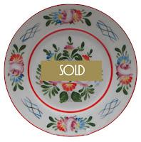 Folk Art Porcelain Wall Plate Hungarian Hollohaza