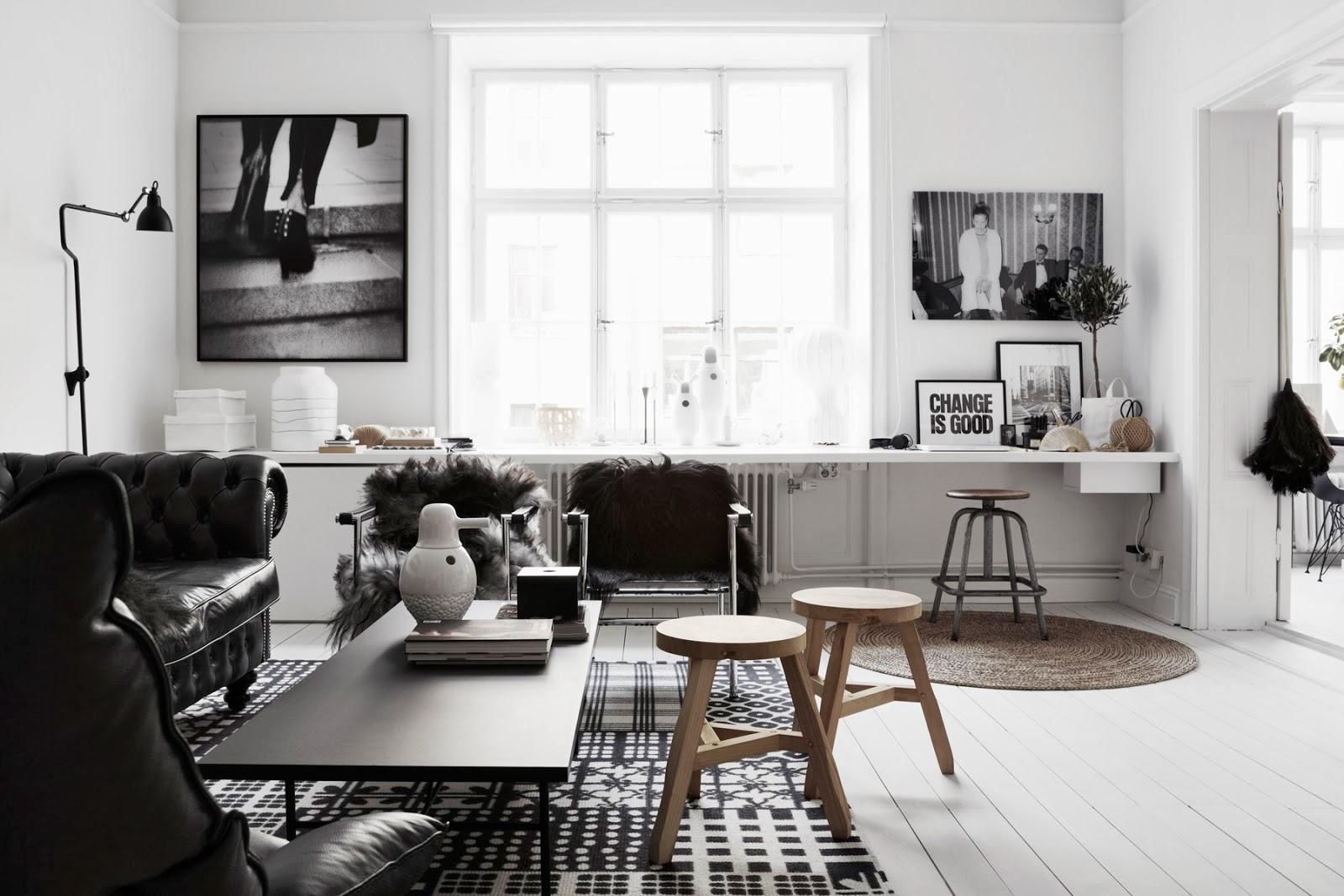la petite fabrique de r ves black white chez la graphiste therese sennerholt. Black Bedroom Furniture Sets. Home Design Ideas