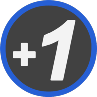 plusone icon outline