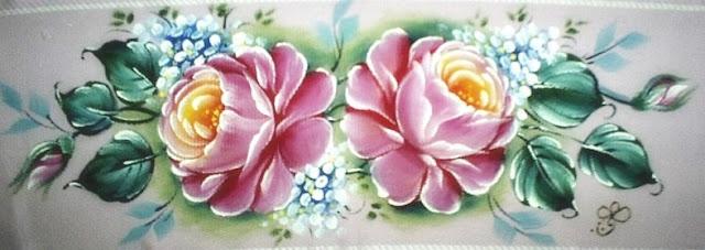barrado pintado com rosas