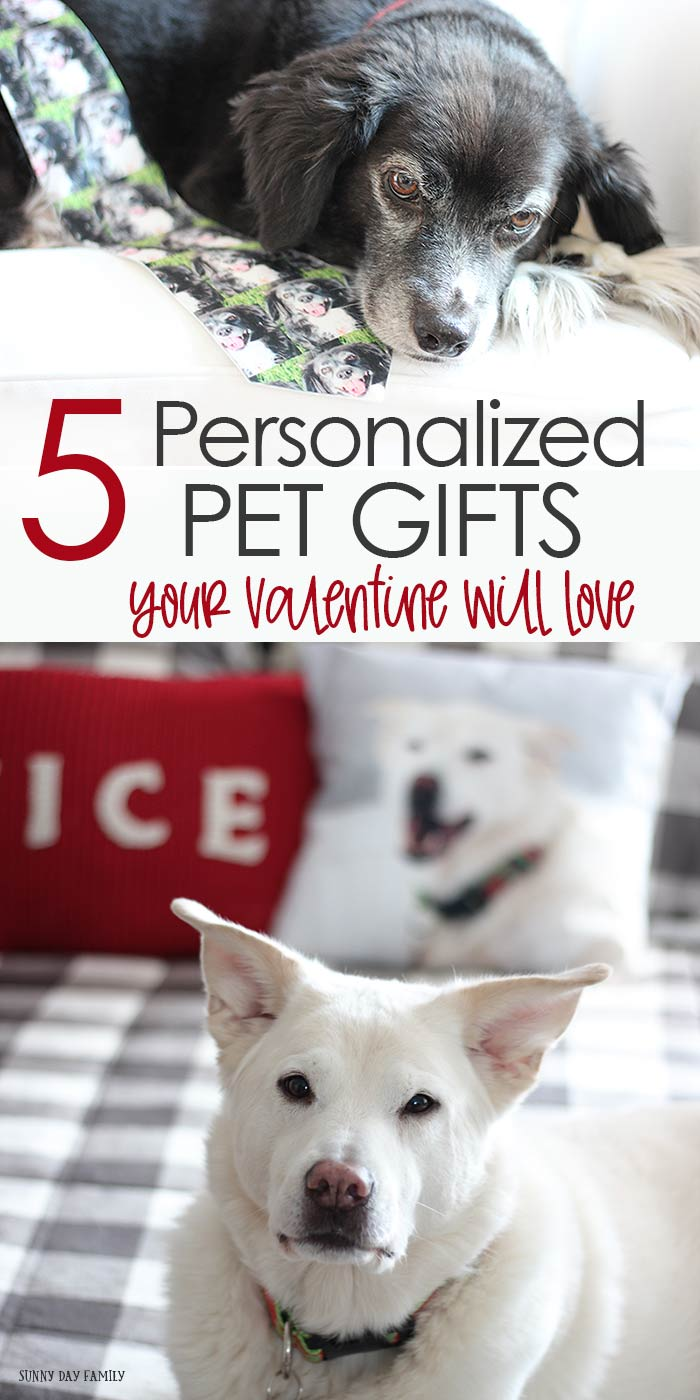 Personalized pet gifts for Valentine's Day and beyond! These personalized pet gifts are easy to create and fit any budget. Perfect Valentine's Day gift ideas for pet lovers, great gifts for pet owners, and super cute pet gift ideas. LOVE the coffee mug! #ad #petgifts #personalizedgifts #giftideas #ValentinesDay