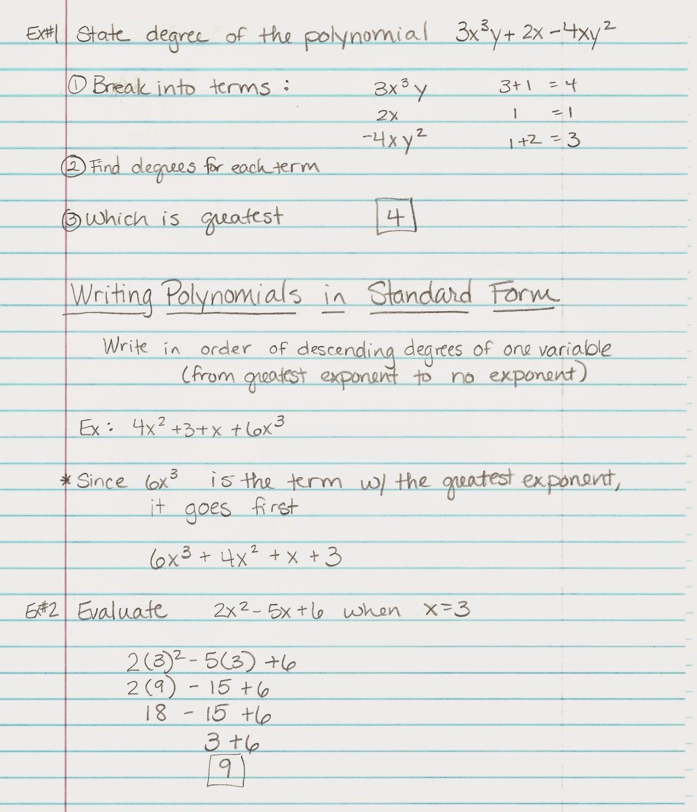 Homework Notes Homework Notes To Parents 02 11