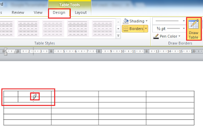 Cara Membuat Merge dan Split Tabel Di Office Word 2010