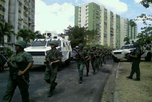 GNB realizó allanamientos en edificios residenciales de Guayana