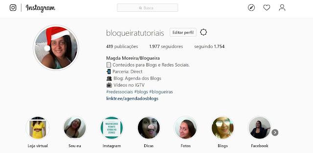 Instagram: Perfil da Blogueiratutoriais