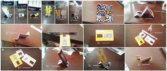 Membuat holder Smartphone Dari Kartu Pedana Bekas