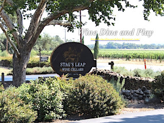 The entrance to the Stag's Leap Wine Cellars in Napa, California